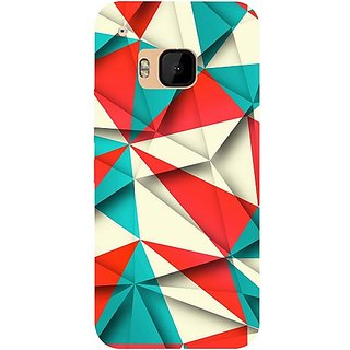 Casotec Red Blue White Pattern Design Hard Back Case Cover For Htc One M9 gz8058-12100