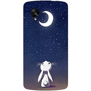 Casotec Moon Bunny Design Hard Back Case Cover For Lg Google Nexus 5 gz8062-12014