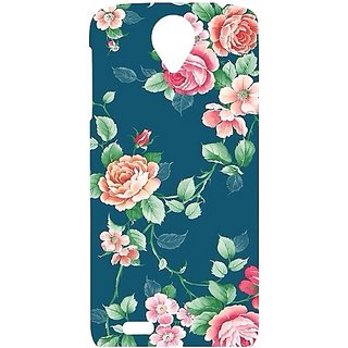 Casotec Vintage Floral Design Hard Back Case Cover For Lenovo S820 gz8032-12143