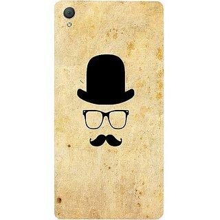 Casotec Mustache Happy Design Hard Back Case Cover For Sony Xperia Z3 gz8020-12013