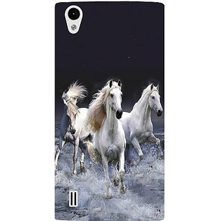Casotec Mystic Horse Design Hard Back Case Cover For Vivo Y15 gz8071-13099