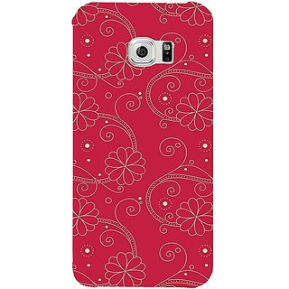 Casotec Floral Red White Design Hard Back Case Cover For Samsung Galaxy S6 gz8010-12252