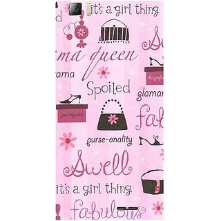 Casotec Its A Girl Thing Design Hard Back Case Cover For Lenovo K900 gz8035-12246