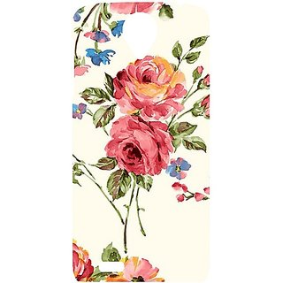 Casotec Vintage Painting Flower Design Hard Back Case Cover For Lenovo S820 gz8032-12165
