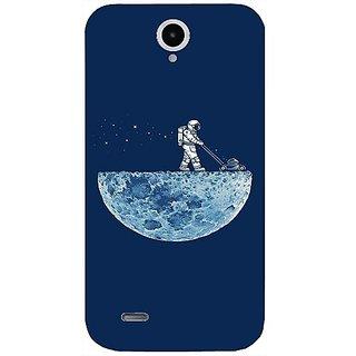 Casotec Moon Walk Design Hard Back Case Cover For Lenovo A850 gz8034-12121