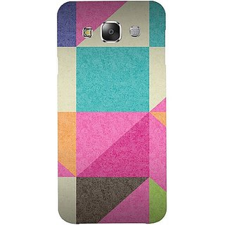 Casotec Pink Cyan Design Hard Back Case Cover For Samsung Galaxy E5 gz8052-12260