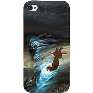 Casotec Ghost In Darkness Design Hard Back Case Cover For Apple Iphone 4 / 4S gz8103-11018