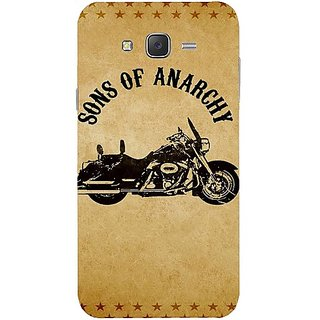 Casotec Rock The Music Pattern Design Hard Back Case Cover For Samsung Galaxy J7 gz8040-12097