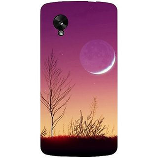 Casotec Moon View Design Hard Back Case Cover For Lg Google Nexus 5 gz8062-11017