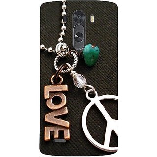 Casotec Love And Peace Design Hard Back Case Cover For Lg G3 Mini gz8099-11062