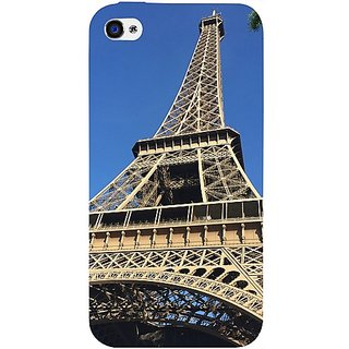 Casotec Eiffel Tower Design Hard Back Case Cover For Apple Iphone 4 / 4S gz8103-11003