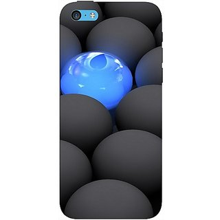 Casotec Balls Dark Neon Sight Surface Design Hard Back Case Cover For Apple Iphone 5C gz8107-11009