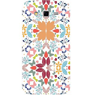 Casotec Floral Pattern Print Design Hard Back Case Cover For Samsung Galaxy Grand 2 G7102 / G7105 gz8048-12357