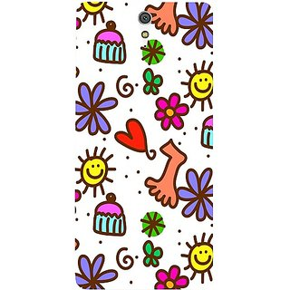 Casotec Drawing Pattern Print Design Hard Back Case Cover For Sony Xperia C5 Ultra Dual gz8053-12358