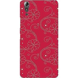 Casotec Floral Red White Design Hard Back Case Cover For Lenovo A6000 / A6000 Plus gz8065-12252