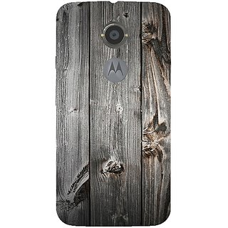 Casotec Wooden Texture Design Hard Back Case Cover For Motorola Moto X 2Nd Generation gz8100-11046