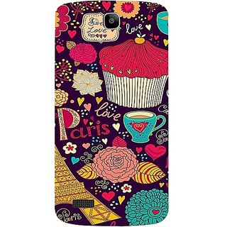 Casotec Paris Flower Love Design Hard Back Case Cover For Huawei Honor Holly gz8101-12067