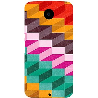 Casotec Colored Pattern Print Design Hard Back Case Cover For Motorola Nexus 6 gz8061-12384