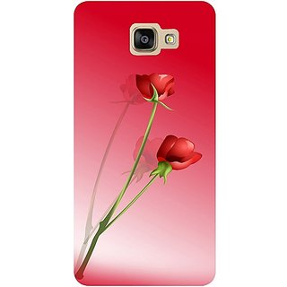 Casotec Red Roses Design Hard Back Case Cover For Samsung Galaxy A9 gz8096-11038