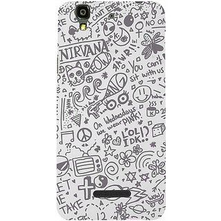 Casotec Nirvana Pattern Print Design Hard Back Case Cover For Micromax Yu Yureka Aq5510 / Ao5510 gz8080-12369