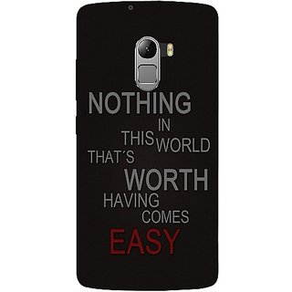Casotec Life Quotes Design Hard Back Case Cover For Lenovo K4 Note gz8115-11072