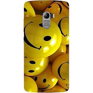 Casotec Smiles Smile Yellow Design Hard Back Case Cover For Lenovo K4 Note gz8115-11165