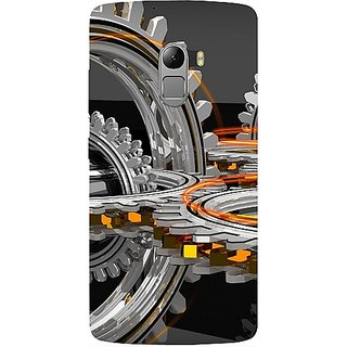 Casotec Engineering Wheel Design Hard Back Case Cover For Lenovo K4 Note gz8115-13219