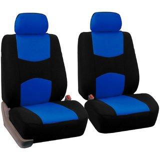 FH-FB050114 Flat Cloth Car Seat Covers Blue / Black Color