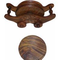 Onlineshoppee Wooden Coaster Set (Option 2)
