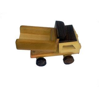 Onlineshoppee Wooden Toy Dumper Truck