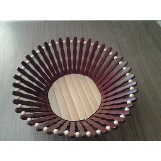 Onlineshoppee Wooden Fruit Basket (Option 2)