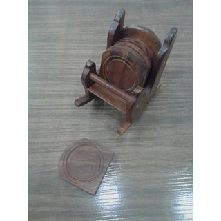 Onlineshoppee Wooden Chair Coaster Set (Option 3)