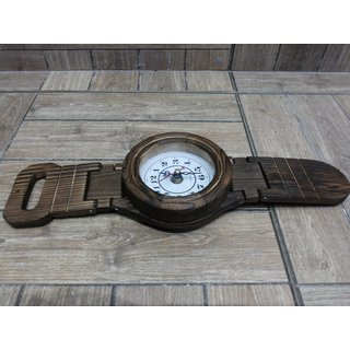 Onlineshoppee Wooden Belt Shape Clock (Option 2)