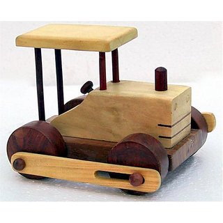 Onlineshoppee Wooden Toy Road Roller