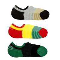 Neska Moda Premium 3 Pair Unisex Checke Red Free Size Cotton No Show Winter Socks Black Red Green Yellow Grey Color Casual Socks