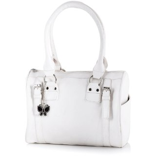 Butterflies Off White Handbag