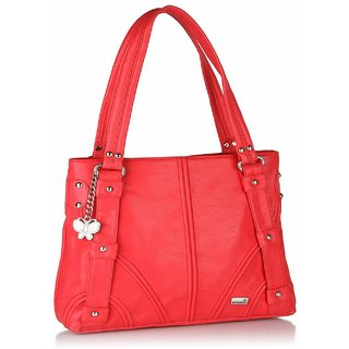 Butterflies Red Shoulder Bag
