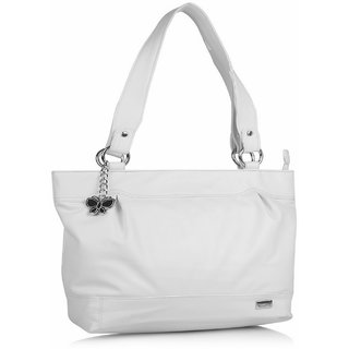 Butterflies White Handbag