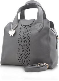 Butterflies Grey Handbag