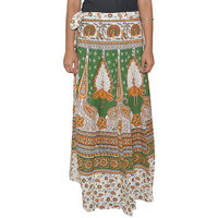 Pezzava Womens Cotton Wraparound Long Skirt (SKT-WCL-A0225)