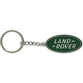 Rudham Land Rover Logo Metal Keychain Carabiner (Silver, Green)