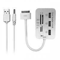 USB Connection Kit 3 Hub And Card Reader For Apple IPad 2 IPhone 4 4s IPod 4