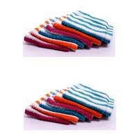 Bp Vibrant Striped Face Towel - 24 Pcs Pack (2 Dozen)