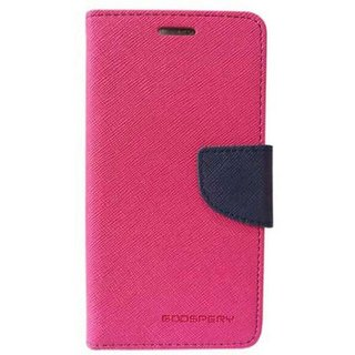 EXOIC81 Wallet Flip Cover For Samsung Galaxy S6 Edge - PINK