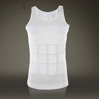 White Polyester Plain Vests For Mens