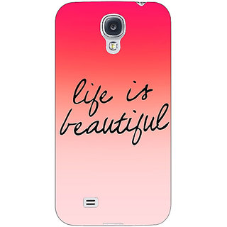 EYP Quotes Life is Beautiful Back Cover Case For Samsung Galaxy S4 Mini I9192 161172