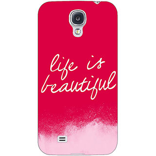 EYP Quotes Life is Beautiful Back Cover Case For Samsung Galaxy S4 Mini I9192 161174