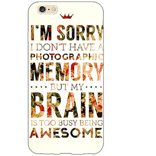 EYP SUITS Quotes Back Cover Case For Apple iPhone 6 Plus 170481