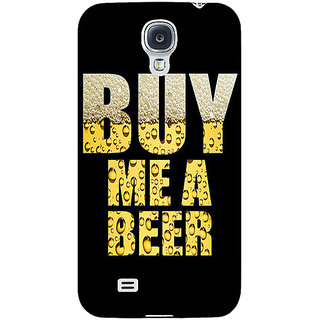 EYP Beer Quote Back Cover Case For Samsung Galaxy S4 Mini I9192 161224