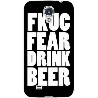 EYP Beer Quote Back Cover Case For Samsung Galaxy S4 Mini I9192 161228
